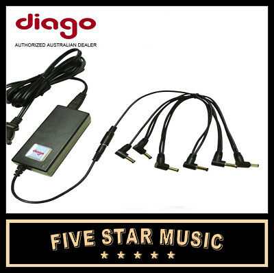 Diago Ps-01 Powerstation Guitar Effect Pedal Power Supply Station Psu - New