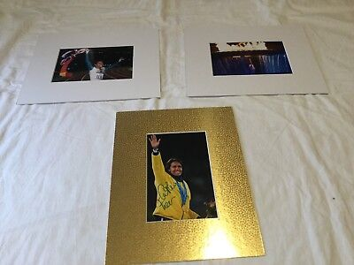 "Cathy Freeman hand signed 6"" x 4"" photo matted to 8""x10"" + 2 unsigned pics"