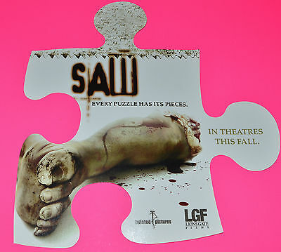 James Wan's SAW 2004 ORIG. GROUP OF 5 - 6x7 PUZZLE PIECE ADVANCE PROMO STICKERS!