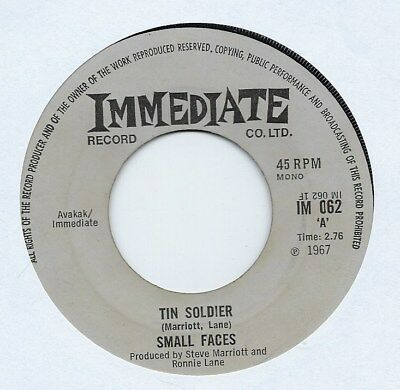 "Small Faces - Tin Soldier - 7"" Single"