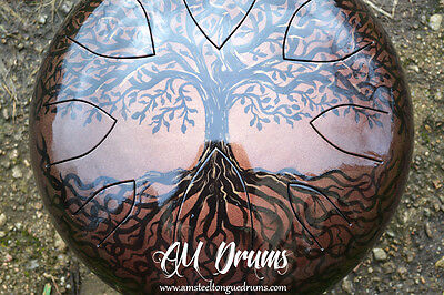 AM Drum - personal handmade ANY SCALE 432HZ steel tongue drum hank tank handpan