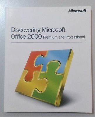 Microsoft Discovering Microsoft Office 2000 Premium and Professional Book