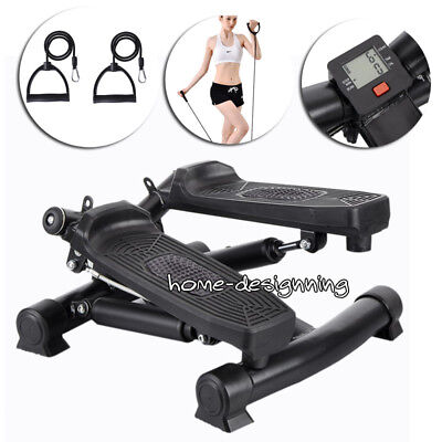 Mini Gym Stepper Exercise Leg Thigh Toning Workout Fitness Stair Arm Cord