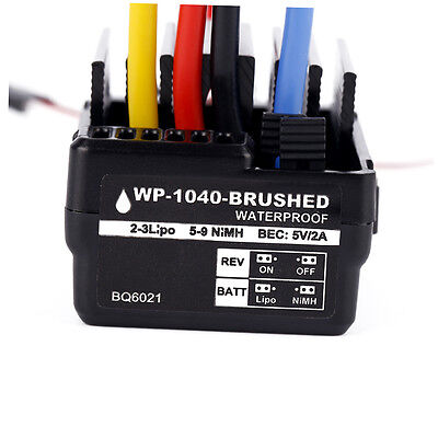 WP 1040 60A Waterproof Brushed ESC Controller for Hobbywing Quicrun Car Motor CP