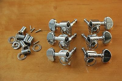 GROVER 102 C 14:1  ROTOMATIC TUNERS 3L/3R CHROME TUNING MACHINE PEGS 10 mm Loch