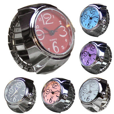 Creative Dial Quartz Analog Cool Finger Ring Watch Steel Elastic Quartz Watch