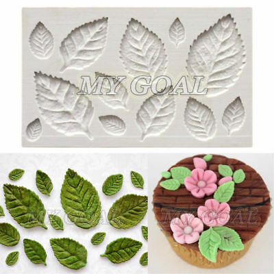 Rose Leaves Cake Decor Silicone Mould Fondant Tree Chocolate Gumpaste Sugarcraft