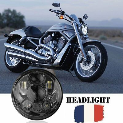 "45W 5.75"" LED Moto phares Lampe Projecteur High/Low Beam H4 Headlight For Harley"
