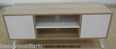 Mesa Tv Roble / Blanco