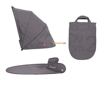 Oyster 2, gem, max carrycot colour pack- slate grey