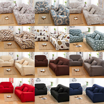 Stretch Sofa Cover Lounge Slipcover Couch Stuhl Protector 1/2/3 Sitzer Sofas