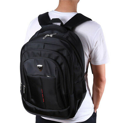 17.3 Inch Laptop Notebook Backpack Travel Computer Bag With USB Charging Port UK