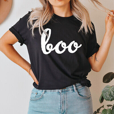 Boo T-Shirt Spooky Scary Cute Unisex Halloween Costume Boo Witches, Boo Bies 22