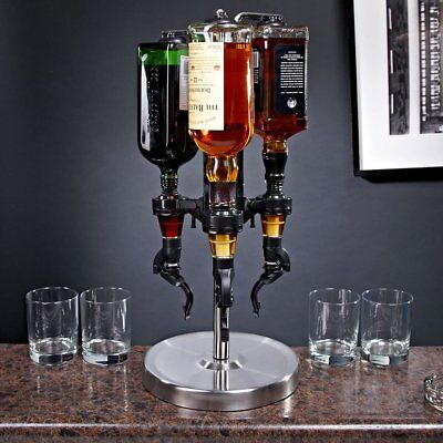 Oggi Pro 3 Bottle Drink Dispenser Whiskey Bar Beverage Alcohol Shot Party Gift