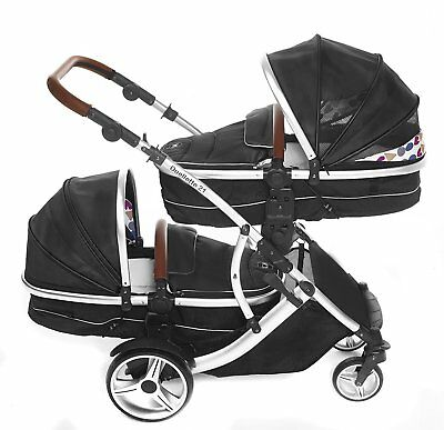 Kidz Kargo Duellette 21 Combo Double Pushchair with Carrycot
