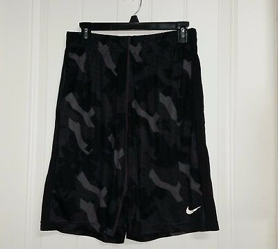 """Men's Nike Dri-Fit Athletic Workout Shorts Size Small 10"""" Inseam Black Gray"""