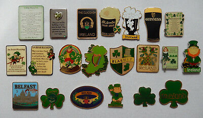 One Selected Metal Souvenir Fridge Magnet from Ireland