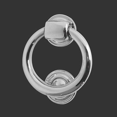 Quality Chrome Ring Door Knocker Large 105Mm Lewis