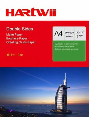 Hartwii 100 Sheets A4  Matte Coated Double Sided Photo Paper Inkjet Paper