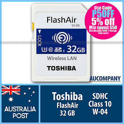 Toshiba 32 GB 32G Flash Air FlashAir Wireless LAN WLAN SD SDHC Class10 wifi W 04