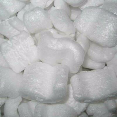 Polystyrene Packing Peanuts White S Loose Fill Chips 2.15 Cubic Feet