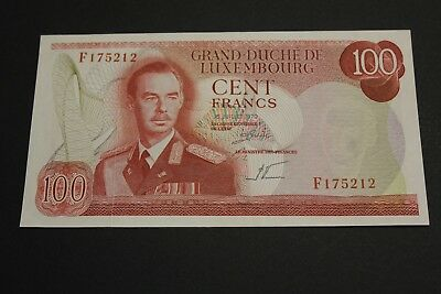 Luxembourg 1970 100 Francs Banknote Pick#56 Xf