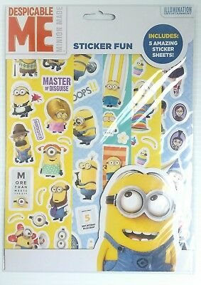 Despicable Me Minions Sticker Paradise With 5 Sheets Of Reusable Stickers