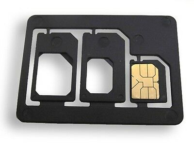 USA! Nano SIM To Micro & Standard Card Adapter Converter Professional Quality