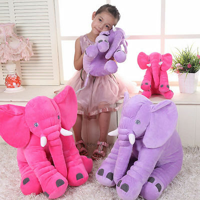 Baby Colorful Giant Elephant Toy Animal-shaped Pillow Stuffed Toys Home Decor NW