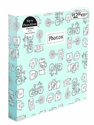 6'' x 4'' Gluebound 2Up Slipin Photo Album with Memo Area 140 Photos Soft Cover