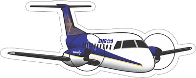 Embraer EMB-120 Brasilia aircraft sticker