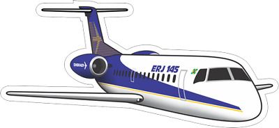 Embraer ERJ-145 aircraft sticker