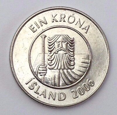 Dated : 2006 - Iceland - 1 Kronur / 1 KR - Coin