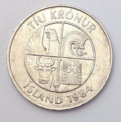 Dated : 1984 - Iceland - 10 Kronur / 10 KR - Coin