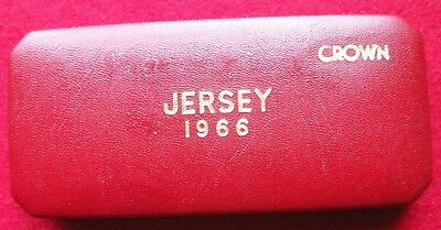 1966 Jersey Proof Crowns British Royal Mint Set, presentation box, coins, uncl