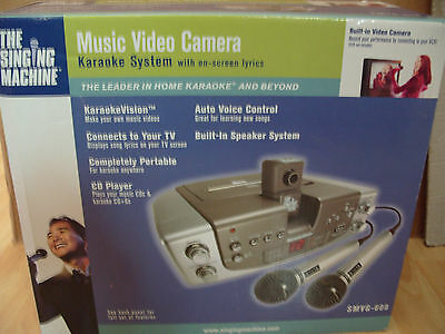 The Singing Machine Karaoke System Model SMVG-608 - Includes 2 Mic's Microphones