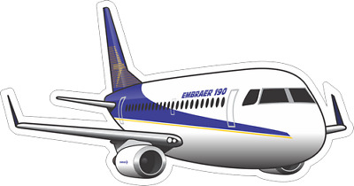 Embraer 190 aircraft sticker