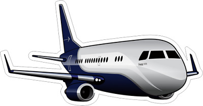 Embraer Lineage 1000 aircraft sticker