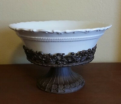 Chris Madden  Foret'  Round 2 piece Compote - EUC
