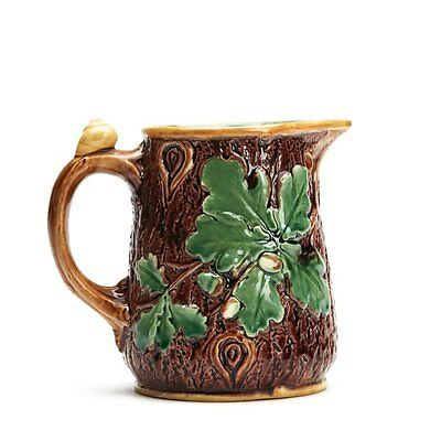 Antique Minton Majolica Acorn & Tree Bark Jug 1865