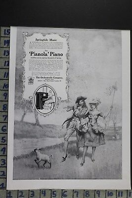 1915 Music Dancing Piano Instrument Women Fashion Love Lamb Vintage Ad Dz030