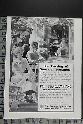 1915 Music Piano Instrument Dancing Fashion Military Soldier Vintage Ad Dz031