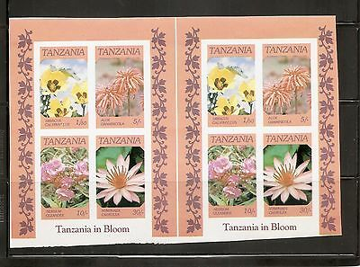 Tanzania 1986 Indigenous Flowers, Sheetlet ,  Imperforated Proof . MNH
