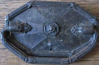 Vintage 6-Sided Pull Hexagonal Drawer Cabinet Handle Salvaged Hardware      #2B