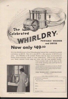 1930 Whirldry Portable Washer Dryer Laundry Clean Woman-13823