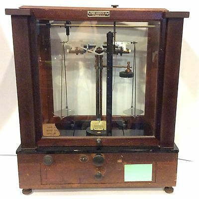 Antique 1900-1930 Christian Becker Chainomatic Apothecary Pharmaceutical Scale