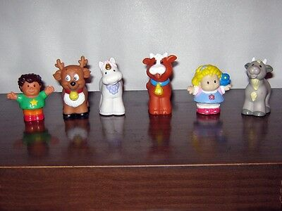 Fisher Price Little People GOAT COW UNICORN REINDEER BOY GIRL - LOT 6