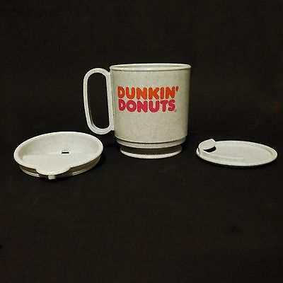 Dunkin' Donuts Grey Mug Stay in place Rare Whirley