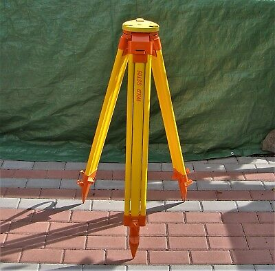 Leica Wild Gst05 Light-Duty Surveying Wooden Tripod Watertight Plastic Wrap