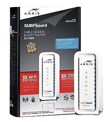 NEW  ARRIS SURFboard SBG6700AC DOCSIS 3.0 Cable Modem/ Wi-Fi AC1600 Router